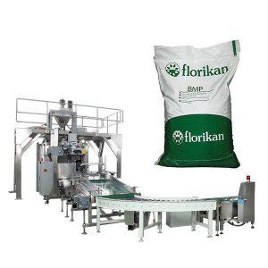 Automātiska beramkravu iesaiņošanas mašīna piena pulverim ar 10kg 25kg somiņām