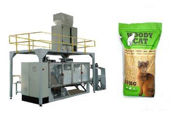 5kg-25kg maisiņi kaķu pakaiši iepakošanas mašīnas