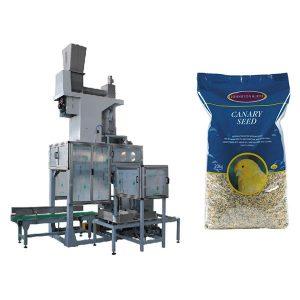 20 kg sēklu atvērtā mutes iepildīšanas un maisiņu uzpildīšanas svari Automātiskā graudu lielo maisu iepakošanas mašīna