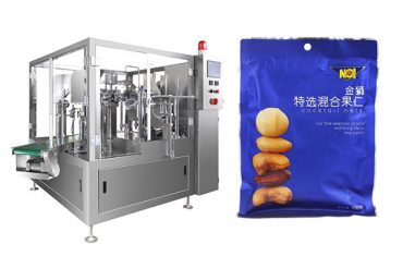 iepriekš sagatavota maisa pārtikas granulu iepildīšanas blīvēšanas iepakojuma mašīna