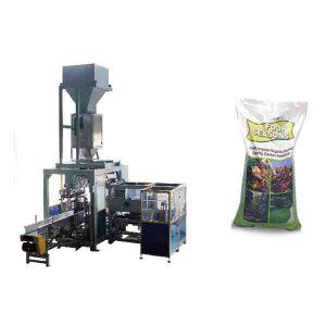 Automātiskā graudu 50 kg lielo maisiņu ķīmiskā mēslojuma iepakošanas mašīna