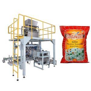 Lielā maisiņa granulu smago maisu iepakošanas mašīna rīsu 10kg-50