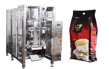 kafijas kvadrātveida maisiņš aizpilda zīmogu iepakošanas mašīnu