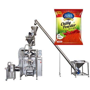 vffs bagger iesaiņošanas mašīna ar štancēšanas pildvielu papriku un čilli pārtikas pulvera